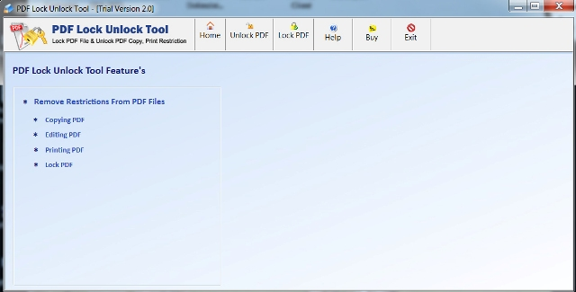 Screenshot of PDF Lock Unlock Tool 2.0